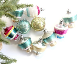 Vintage Glass Ornaments, Holiday Decor