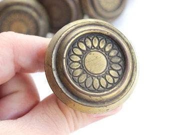 Vintage Brass Drawer Knobs, Cabinet Pulls, Furniture Hardware