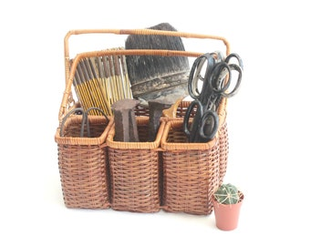 Woven Wicker Storage Caddy, Basket