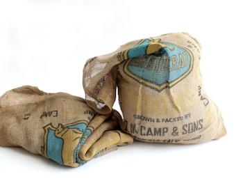 Vintage Burlap Sacks, Farming and Produce Sack, DM Camp & Sons
