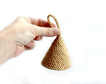 Woven Jute Bell, Handmade Art/Collectible
