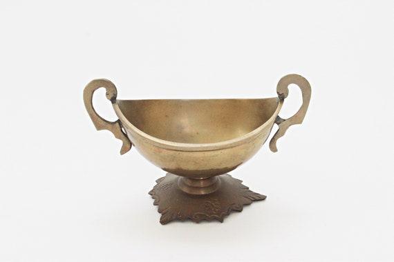 Vintage Enamel Rring Dish Retro Germain Designer Fired Enamel Jewelry Dish Wedding Ring Dish Brass Plate Small Brass Dish Copper Dish