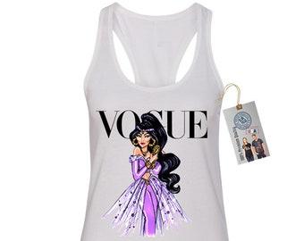 2be6a7284bd Vogue Jasmine Disney Princess Womens Racerback Womens Tank Top Tee T Shirt