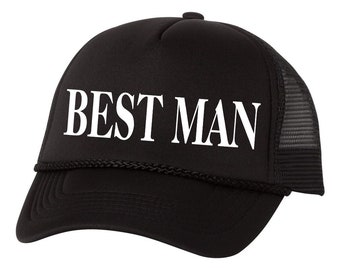 Best Man Trucker Hat Bachelor Party Vegas Wedding Baseball Hat Cap bcd27f2892da