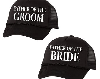 e1d97259c67d9 Father of the Groom Father of the Bride Hat Set
