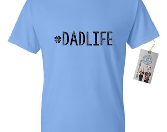 155596334 Father's Day Gift #DadLife Mens Short Sleeve Cotton T-Shirt