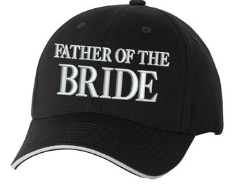 Father of the Bride Men s Embroidered Cotton Sandwich Baseball Wedding Hat 2907134efde5