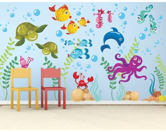 High Quality Under The Sea Decal   Vinyl Wall Decal   Ocean Decals   Ocean Wall Decals