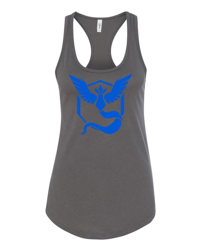 7ae32304b Pokemon Go Gym Team Mystic Blue Womens Racerback Womens Tank | Etsy