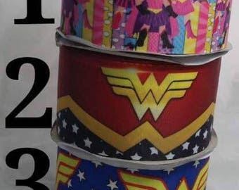 "3"" WonderWomen Grosgrain Ribbon"