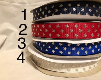 "1"" Stars Ribbon"