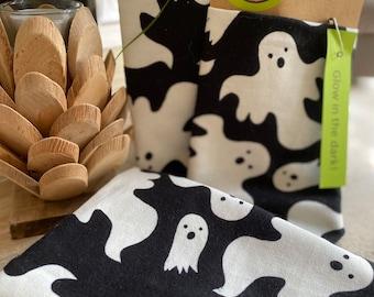 Glow In The Dark Bandana Dog Bandana Halloween Dog Halloween Ghost Dog Treats Dog Cookies