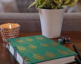 Painting Journal - Hand Bound Coptic Stitch Journal