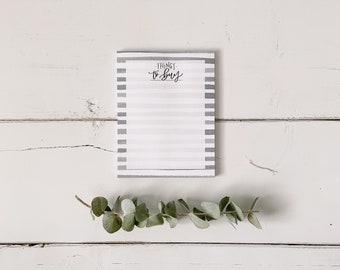 Shopping List Notepad - Things to Buy - Grocery List - Everyday Notepad - Hand Lettered Design