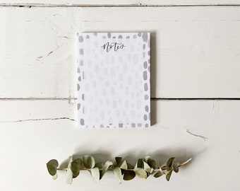 Notes Notepad - Watercolour Spots - Everyday Notepad - Hand Lettered Design