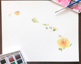 Hibiscus Painting Etsy