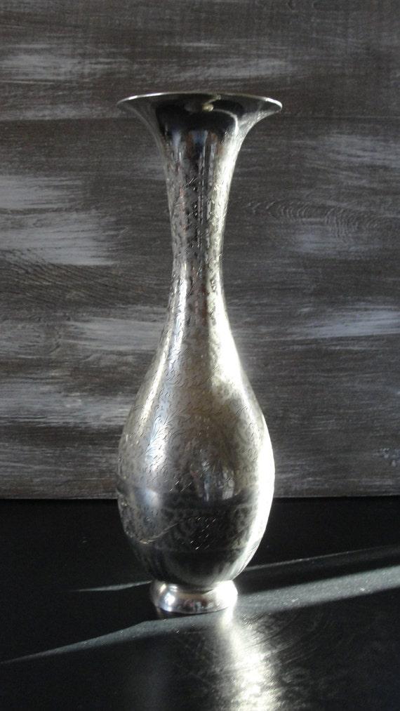 Georgeous Silverplated Flower Vase Tea Party Ladies Etsy