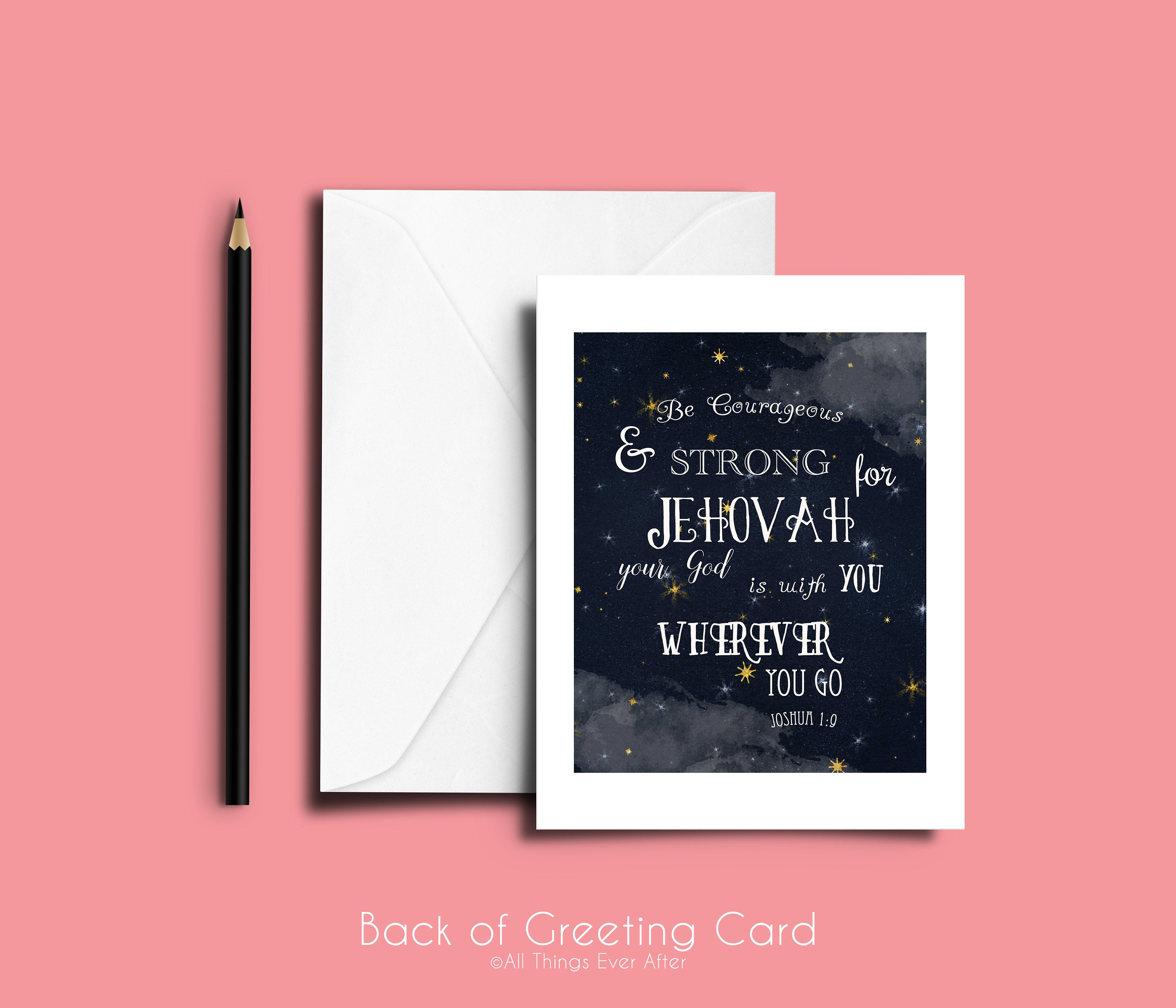 Be Courageous And Strong Greeting Card Jw Pioneer Ske Etsy