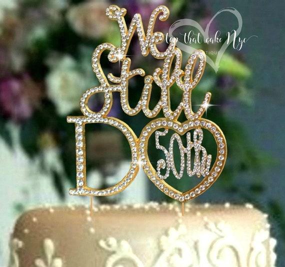 Crystal Rhinestone Cake Topper Mr /& Mrs Wedding Anniversary Party Decor Sparkles