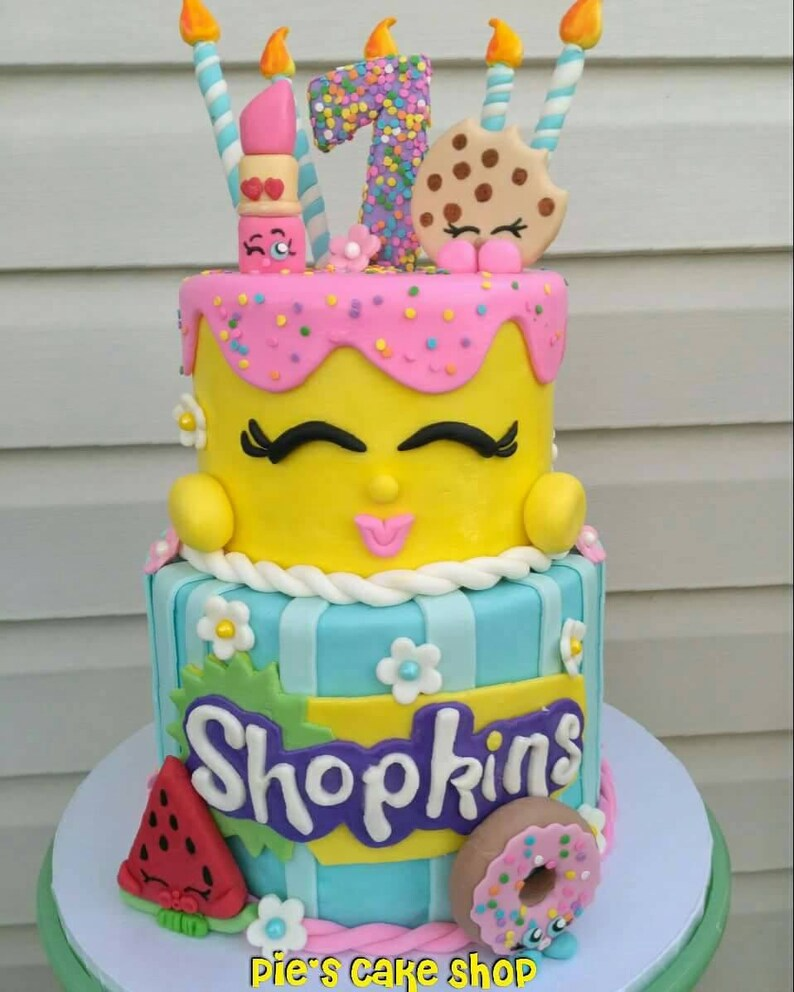 SHOPKINS Cake Topper Set Fondant Birthday Decor ENTIRE