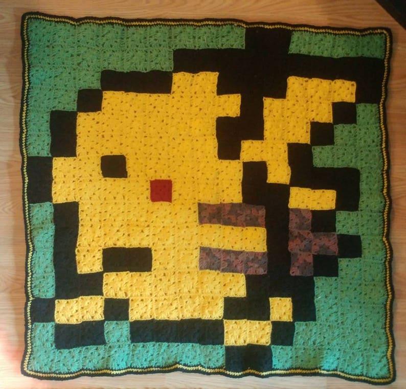 8bit Pikachu Pokemon Baby BlanketFloor Rug!