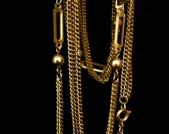 70's Extra Long Metal Chain with Accents                             VG1521
