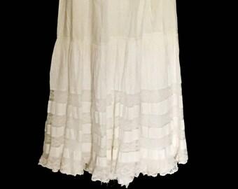 1880's Antique Ladies Cotton Slip         VG299