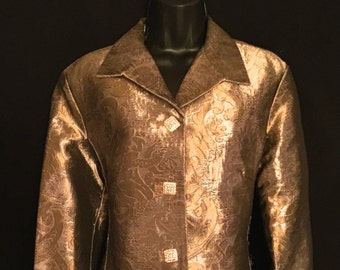 Gold Lame Brocade Jacket  VG51