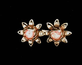 Vintage 30s Double Flower Pin