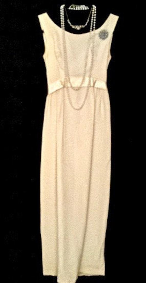 A 60's Cream Evening Gown  VG40