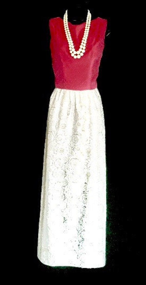 Mod 60's Hot Pink And Silver Lame Gown      VG148