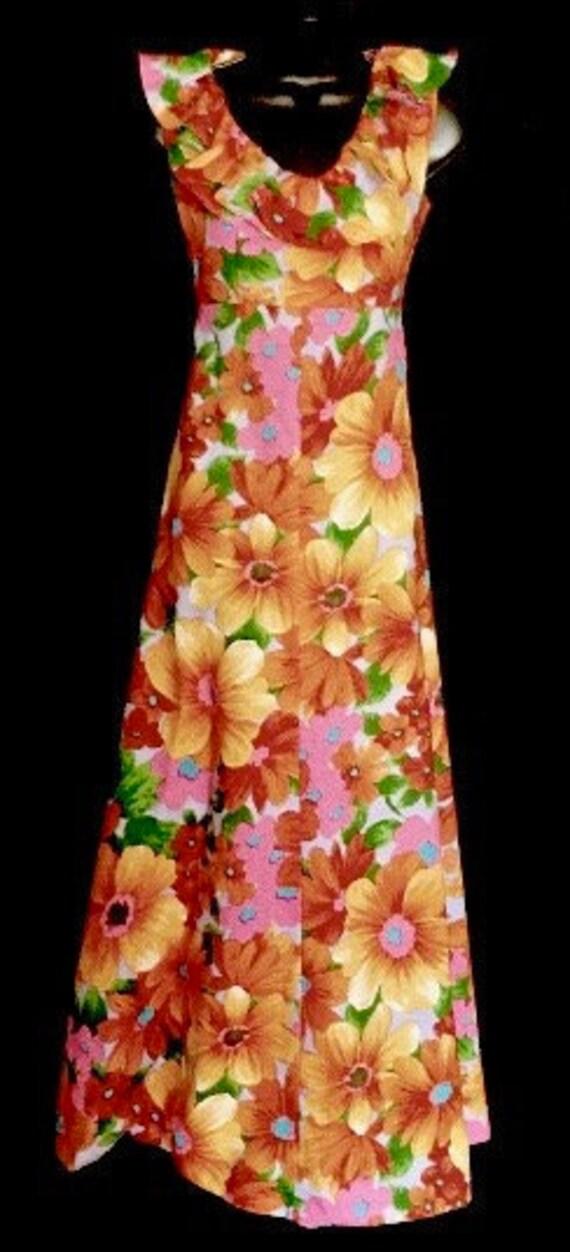 Vintage 60's Hawaiian Style Hostess Dress    VG246
