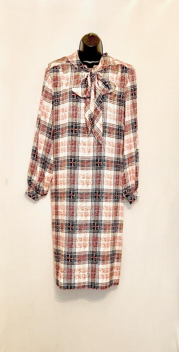 70s Nate Kaplan Couture Shirt Dress         VG390 - image 1