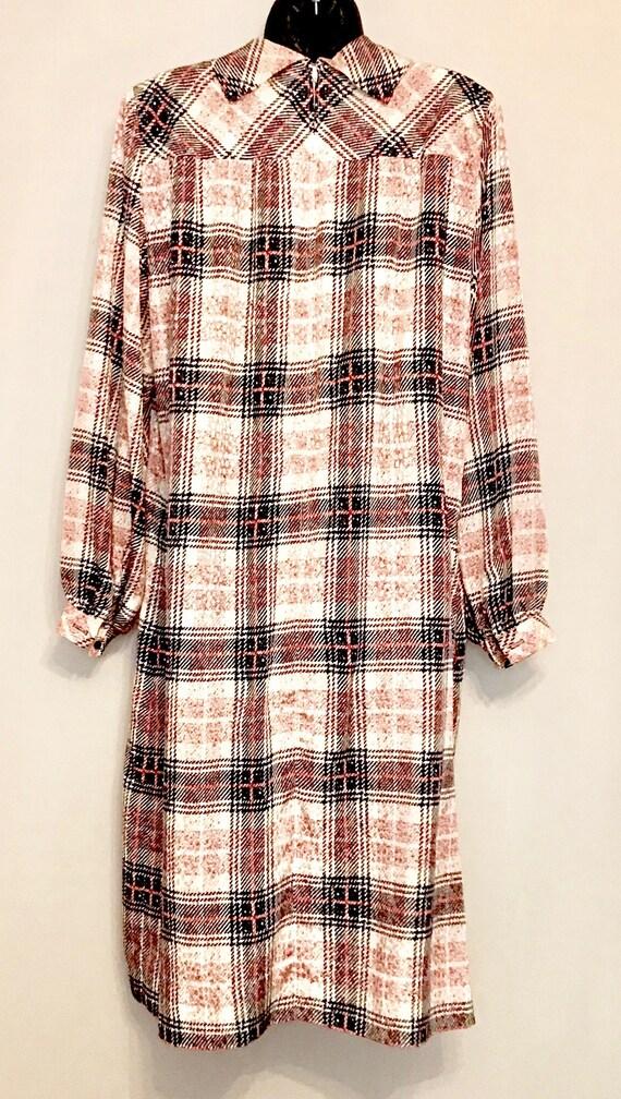 70s Nate Kaplan Couture Shirt Dress         VG390 - image 6