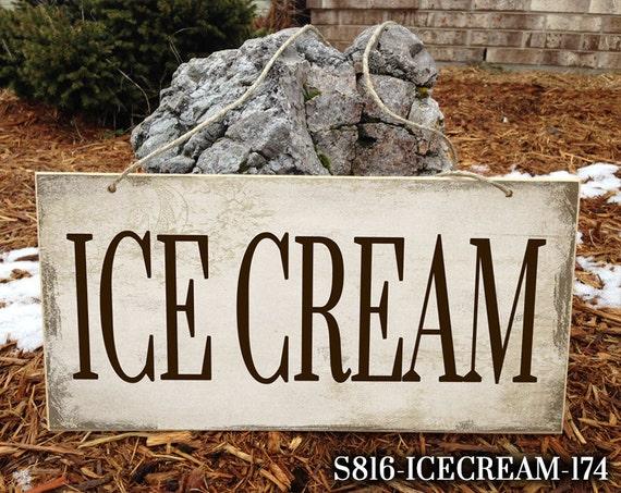 Wedding Reception Decor Ice Cream Wedding Sign Ice Cream Bar Etsy