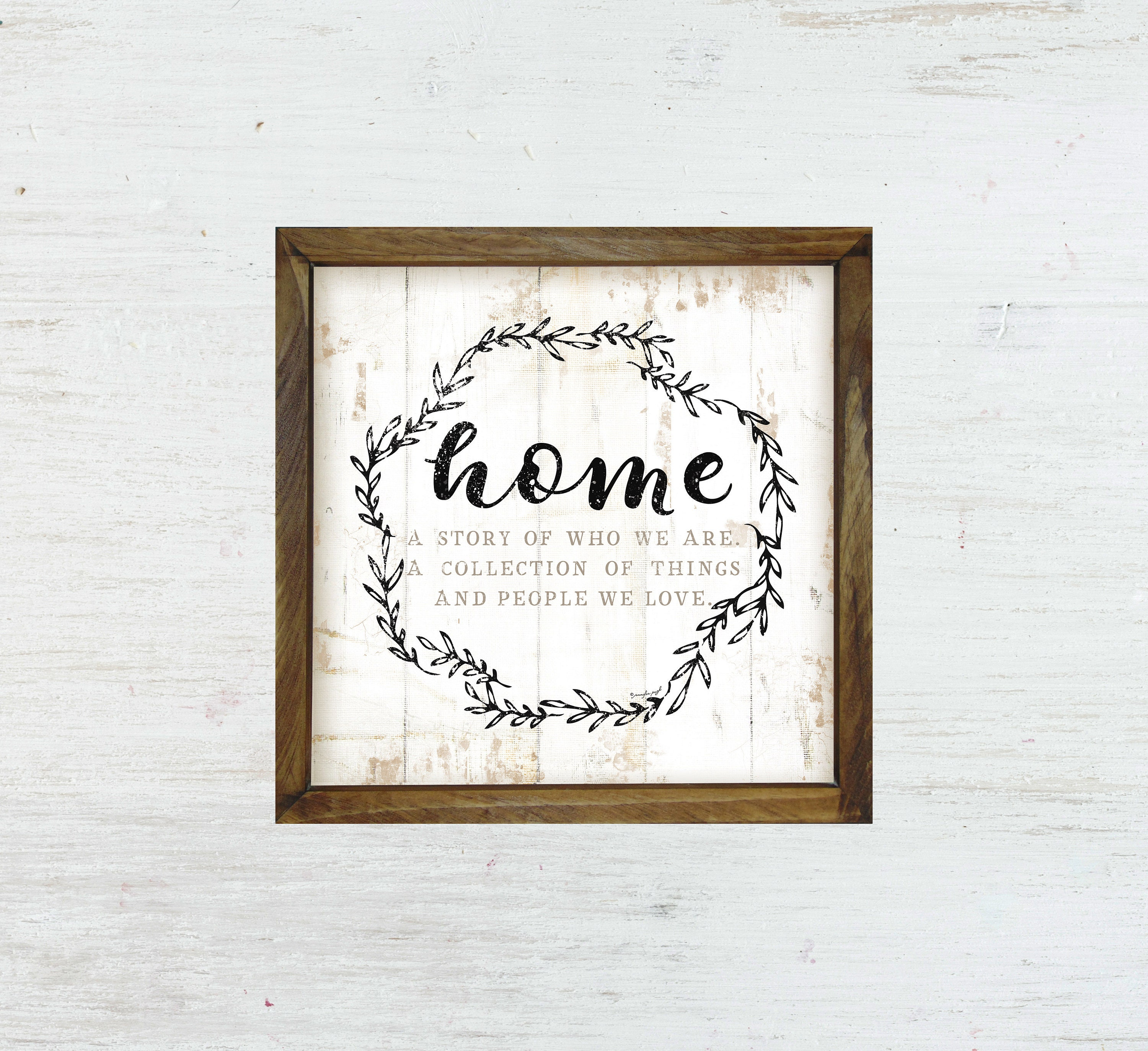 HOME Sign Home Decor Wall Decor Signs Custom Sign Rustic   Etsy