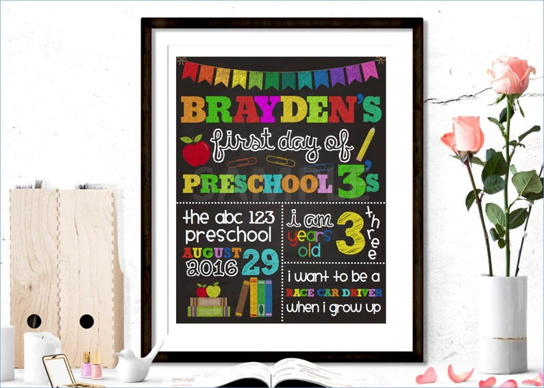 School Printable Back to School Poster First Day of School 1st Day of School Back to School Sign Printable Sign,Printable School Poster