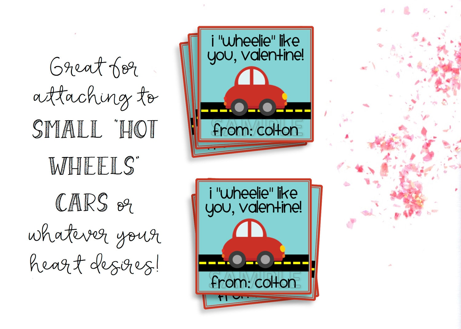 Valentines Day Tags Valentines Day Cards Printable | Etsy