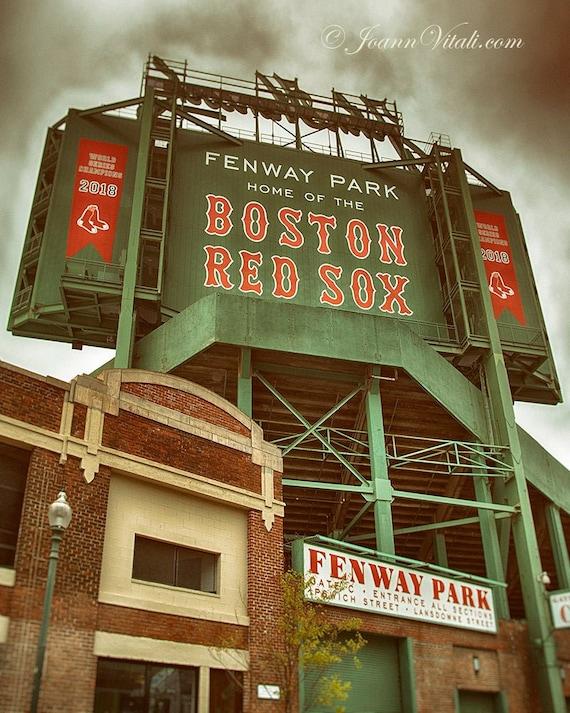 Boston Red Sox Fenway Park Scoreboard Art Print