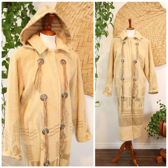 Vintage 1980s WoolRich Southwest Blanket Coat