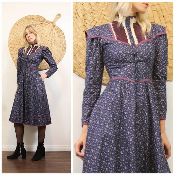 Vintage 1970s Gunne Sax Midi Dress