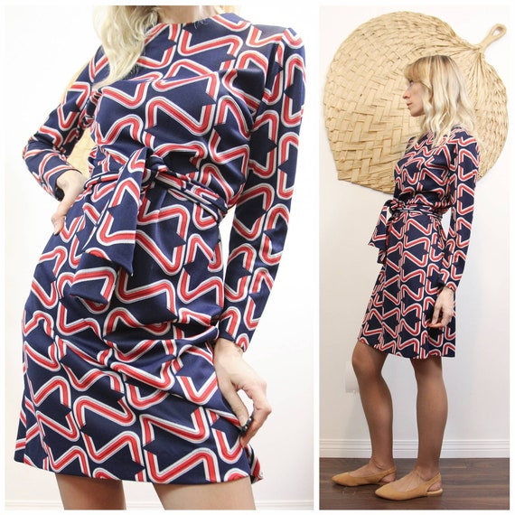1960s Abstract~Mod Shift Dress