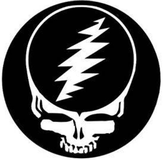 Grateful Dead Steal Your Face Sticker 4 Inch Vinyl Decal Etsy