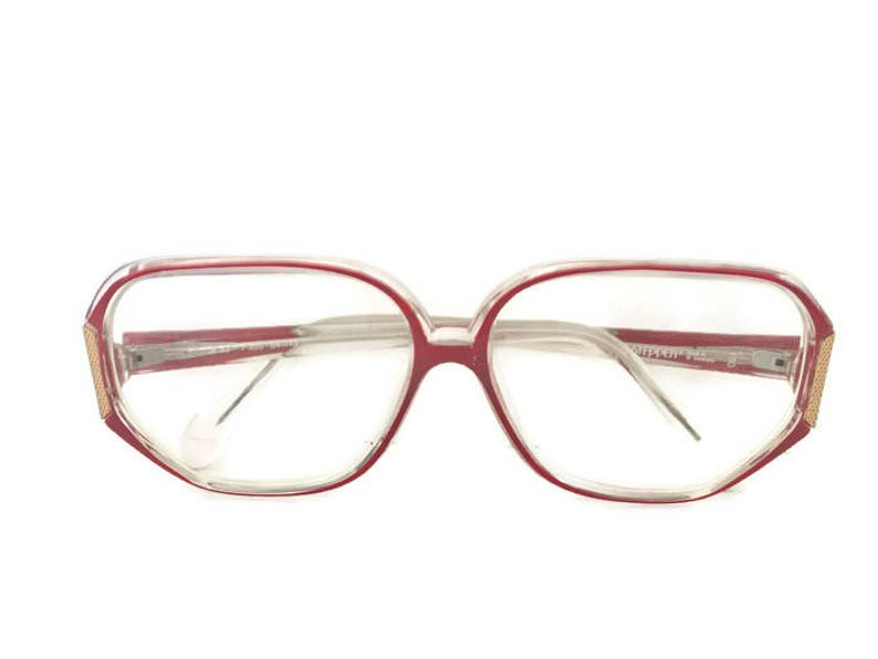 2151825be2c Vintage Stepper Eyeglass Frames Retro Two Tone Frame and