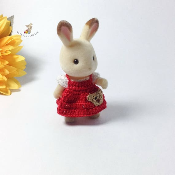 Calico Critters Sylvanian Families Crochet Clothesoutfit For Sister Made To Order 4003