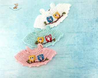 Calico Critters/ Sylvanian Families Crochet Clothes/ Outfit for Sister Made to Order #4008