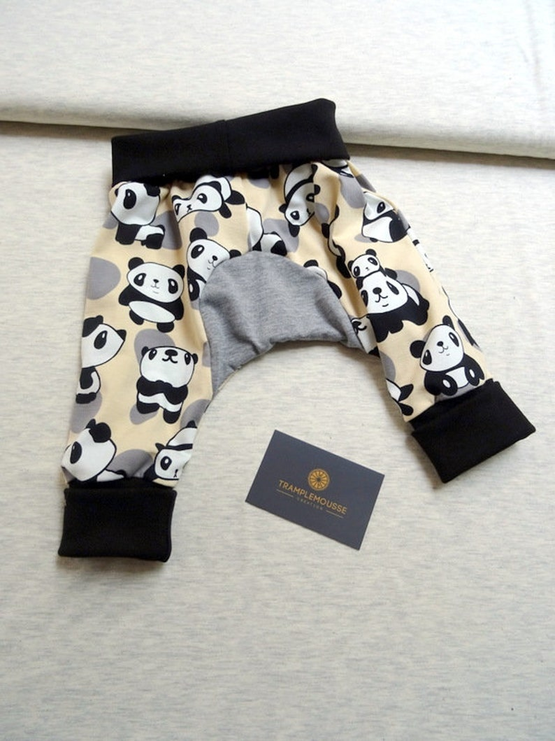 baby/'s evolutionary pants in Panda pattern Jersey baby gift idea