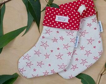 Mini Christmas stockings. Personalised stockings. Scandi Christmas. First christmas keepsake. Teacher gift. Christmas decor
