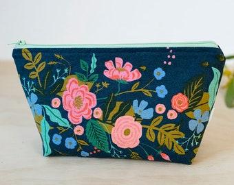 619f476d65 Rifle Paper Co. makeup bag. Floral zipper pouch. Waterproof cosmetic case. Pencil  case. Wet pouch. Floral zipper pouch