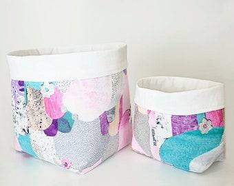 Fabric Storage Basket. Nursery Storage Bin. Bathroom Storage. Baby Shower  Gift. Nursery Decor. Laura Blythman Print. Plant Pouch. Toy Bin